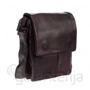 Vīriešu ādas soma pāri plecam